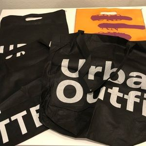 Urban Outfitters Reusable Bags Set of 4 New